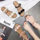 涼鞋女韓版兩穿沙灘涼拖鞋外穿平底森女風復古學生女鞋  伊衫風尚