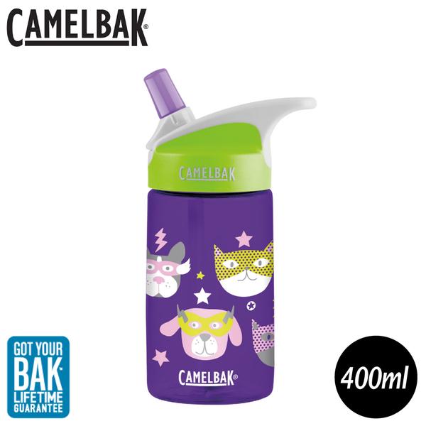 【CamelBak 美國 400ml eddy兒童吸管運動水瓶《寵物英雄》】1274503040/水壺/隨身瓶