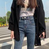 牛仔褲女2019秋冬新款高腰修身顯瘦顯高百搭緊身加絨小腳鉛筆褲潮 嬌糖小屋