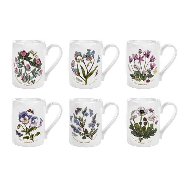 英國 Portmeirion Botanic Garden植物園系列- 咖啡馬克杯六入組