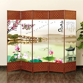 屏風隔斷簡易折疊客廳玄關牆移動折屏現代簡約時尚辦公室實木中式