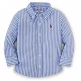 Polo Ralph Lauren 襯杉西裝長袖上衣 藍直條 | 男寶寶衣服(嬰幼兒/小孩/baby)