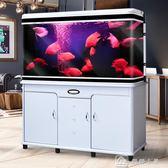 中型長方形魚缸水族箱客廳家用簡約現代大型生態玻璃金魚缸 YXS 娜娜小屋