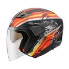【東門城】ZEUS ZS611E TT25(消光黑紅) 半罩式安全帽 雙鏡片