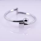 手環 925純銀-簡約圓珠正方體可調整生...
