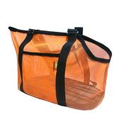 Woody透氣側背網包L-橘色
