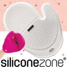 【Siliconezone 】施理康方格防燙矽膠手套--白色