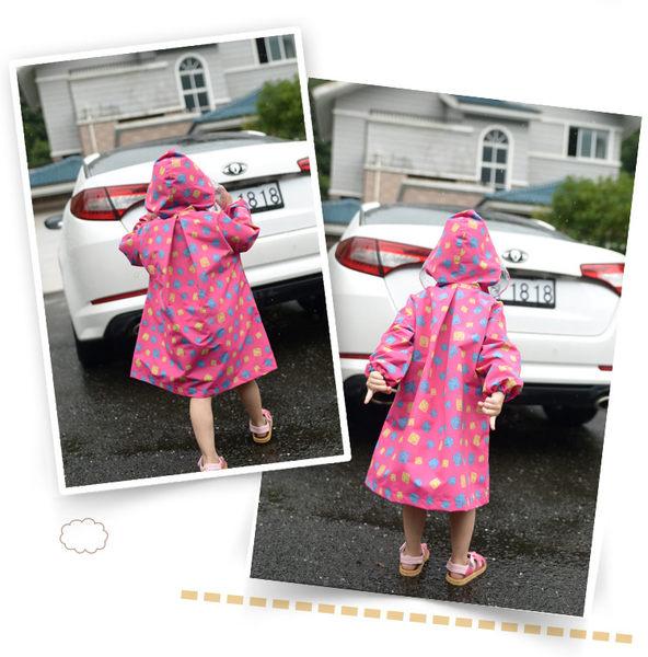 [韓風童品] 品牌兒童雨衣 透明大帽簷兒童雨衣 男童女童雨衣 附收納袋