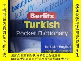 二手書博民逛書店土耳其語-英語.英語-土耳其語袖珍詞典罕見Berlitz Turkish Pocket DictionaryY