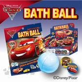 〔小禮堂〕迪士尼 CARS閃電麥坤 造型沐浴球《黑紅.大臉》泡澡球.入浴劑 4535304-68956