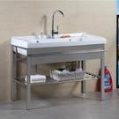 洗衣槽 不銹鋼支架洗衣槽陽台陶瓷盆洗衣池...