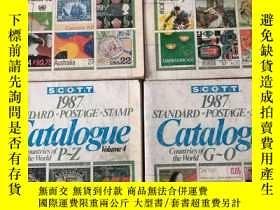 二手書博民逛書店SCOTT罕見1987 STANDARD POSTAGE STAMP CATALOGUE 《斯科特標準郵票冊198