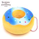藍色點點款【日本進口】甜甜圈 捏捏吊飾 吊飾 捏捏樂 軟軟 squishy 捏捏 Sammy the Patissier - 616494