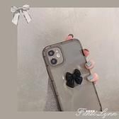 【6月新品】透黑立體蝴蝶結iphone12promax手機殼11pro蘋果x 范思蓮恩