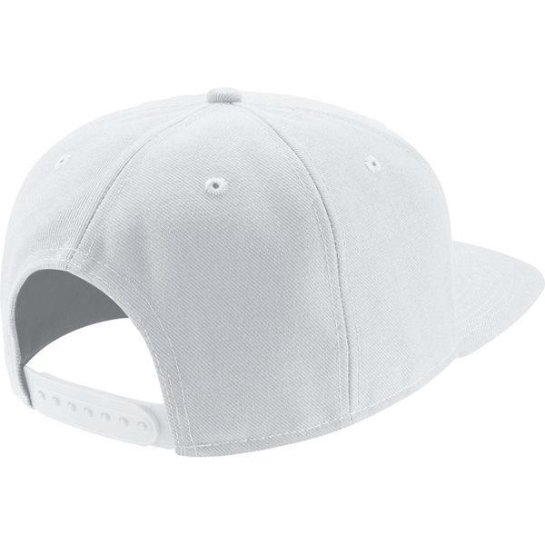 NIKE SWOOSH PRO SNAP BACK 棒球帽 刺繡 白底 黑勾 【運動世界】 639534-100