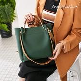 側背包-高質感簡約純色百搭3way水桶包手提包斜背包 (SBA0321)AngelNaNa