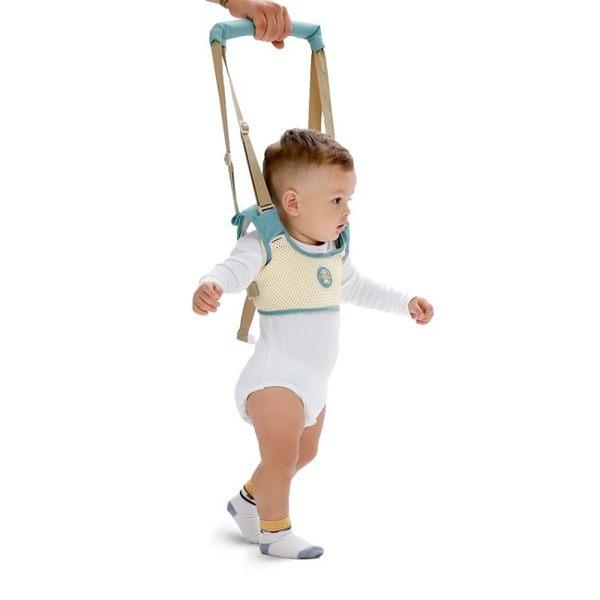 嬰兒童學步帶車背帶透氣棉馬甲式雙肩柔軟防偽一代學走路抱孩子遛  初語生活館