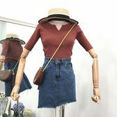 甜美小V領針織衫新款時尚潮流字母簡約百搭韓版修身顯瘦上衣