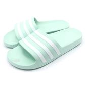 《7+1童鞋》ADIDAS ADILETTE AQUA 超輕量防水運動拖鞋  7372 綠色