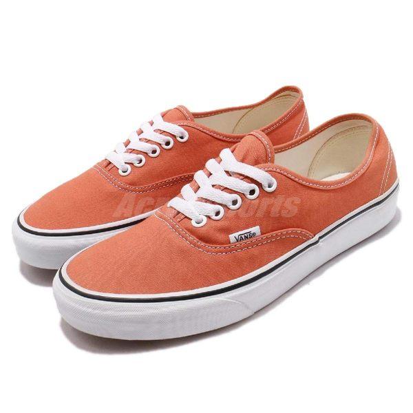 【六折特賣】Vans Authentic 橘 白 復古 低筒 滑板鞋 休閒鞋 基本款 男鞋【PUMP306】 73010120
