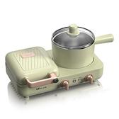小熊三明治早餐機家用小型懶人輕食機多功能四合一壓烤面包機神器 夢幻小鎮「快速出貨」