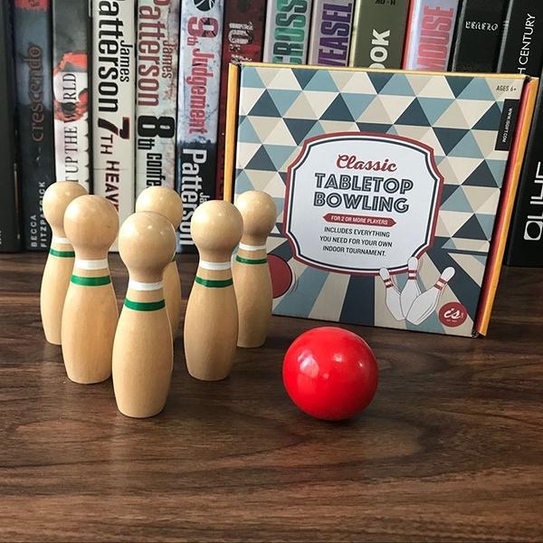 保齡球 木制保齡球兒童玩具迷你保齡球親子活動木質實木玩具桌面游戲【快速出貨八折優惠】