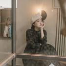 Queen Shop【01085131】中山領格紋傘襬棉質洋裝 兩色售*現+預*