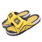 Nike 拖鞋 Jordan Hydro IV Retro 喬丹 4代 Lightning 黃 黑 涼拖鞋【ACS】 DN4238-701