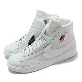 Nike 休閒鞋 Wmns Blazer Mid Rebel 白 湖水綠 女鞋 大勾勾 拉鍊設計 【ACS】 BQ4022-400