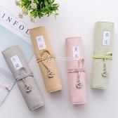 文具盒韓國簡約小清新學生可愛捲筆袋鉛筆袋文具盒男女 瑪奇哈朵
