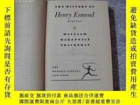 二手書博民逛書店the罕見history of henry esmond,esq