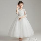 演出服 女童晚禮服兒童公主裙蓬蓬紗2019新款主持人鋼琴表演服花童婚紗裙