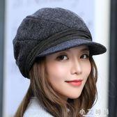 保暖針織毛線帽子女韓版潮百搭時尚護耳鴨舌 小艾時尚