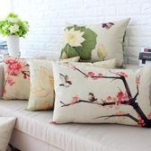 中國風棉麻靠墊含芯沙發抱枕腰枕