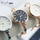 Glows.REBIRTH品牌。太陽刻度圓形金屬細手鐲手環腕錶手錶【ta609】911 SHOP