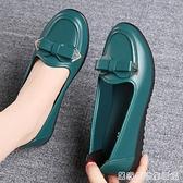 媽媽鞋軟底舒適單鞋春秋款工作鞋中老年皮鞋女防滑平底奶奶鞋 居家物语