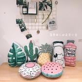ins韓國雙面可愛創意水果菠蘿仙人掌汽車抱枕靠墊 露露日記