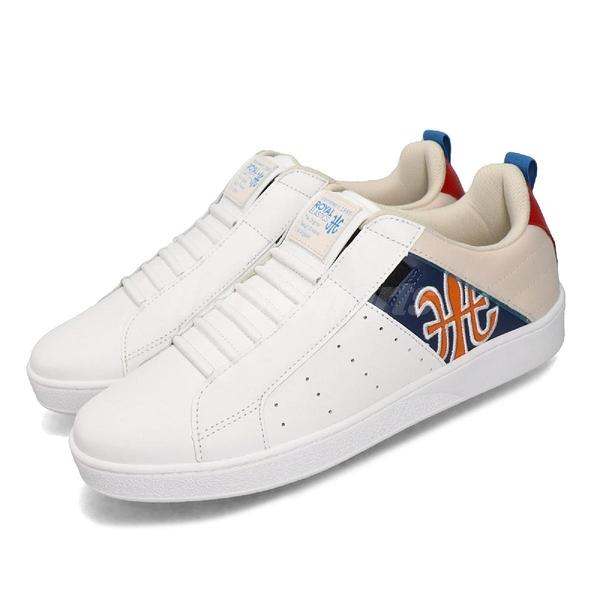 Royal Elastics 休閒鞋 Icon Manhood 白 藍 橘 男鞋 時尚 無鞋帶 【PUMP306】 02093051