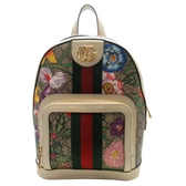 GUCCI 古馳 白色牛皮 Ophidia系列 GG花卉後背包 Flora Backpack 547965 【BRAND OFF】