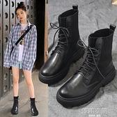 馬丁靴女夏季薄款英倫風2021新款學生百搭厚底機車靴子女網紅短靴 【韓語空間】
