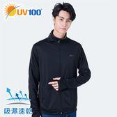 UV100 防曬 抗UV-休閒舒適立領外套-男