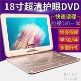 新款DVD影碟機便攜式家用CD光盤播放器放讀碟帶電視WIFI網絡視頻學習電腦家教 ZJ5962【潘小丫女鞋】