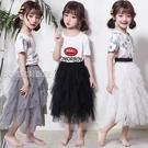 半身紗裙女童半身裙紗裙中長款兒童蛋糕紗裙蓬蓬裙女寶公主裙短裙親子網紗 快速出貨