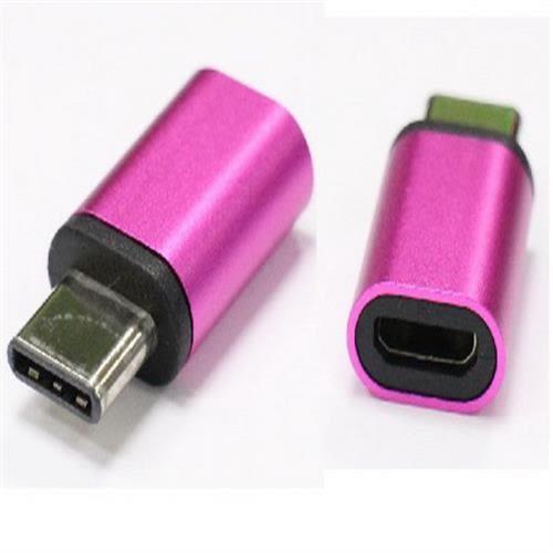 炫彩3.1 Type C公-USB2.0 MicroB母轉接頭(紫色)