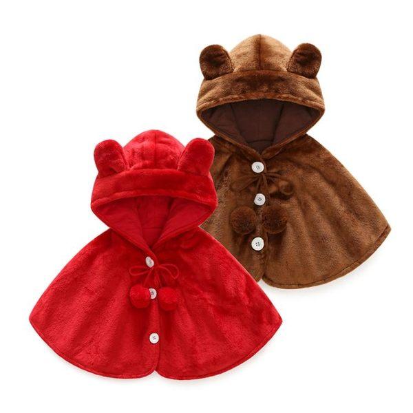 秋冬保暖嬰兒外出連帽防風披肩 YY1568『東京衣社』