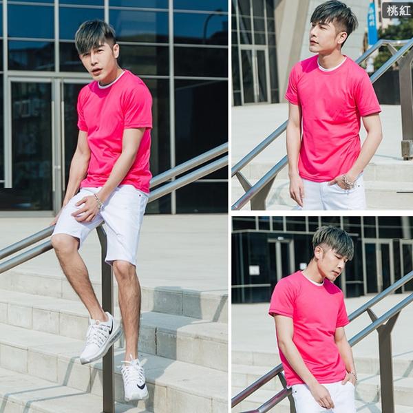 有加大尺碼【OBIYUAN】涼爽機能 短袖T恤 吸濕排汗 素面短袖上衣 共9色【JG6350】