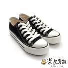 【樂樂童鞋】【台灣製現貨】MIT經典帆布鞋-黑 C035-1 - 現貨 台灣製 帆布鞋 大童鞋 親子鞋 男童鞋