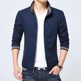 秋季新款男士純棉薄款夾克修身韓版時尚外套休閒夾克8913#     東川崎町