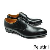 【Pelutini】經典時尚德比紳士鞋 時尚黑(9123-BL)