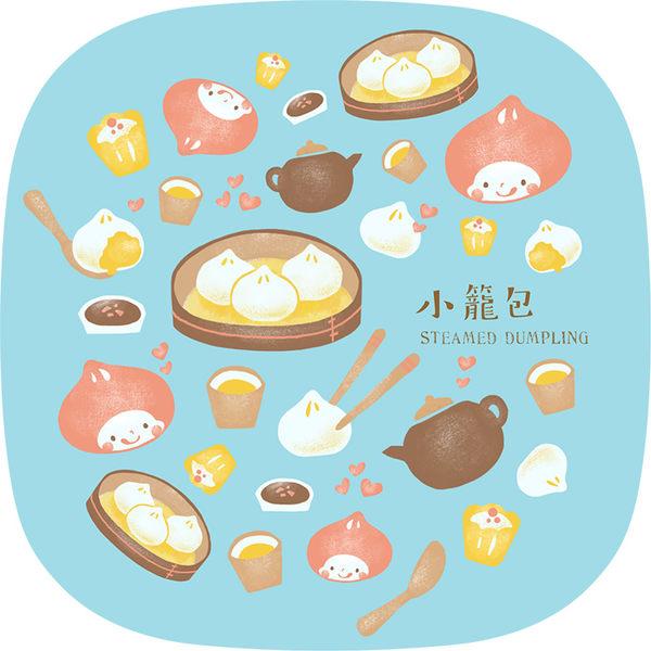 【猴子設計】2310-布杯墊 食遊台灣-小籠包